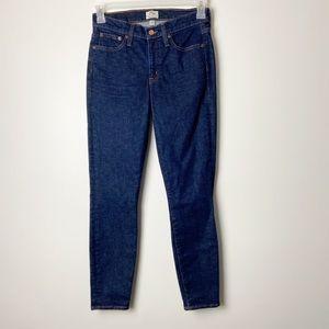 J CREW • Dark Wash Toothpick Skinny Jeans Sz 27